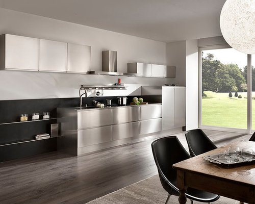 cuisine tout inox. Black Bedroom Furniture Sets. Home Design Ideas
