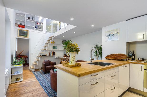 avant apr s renaissance d 39 un sombre duplex de 56 m. Black Bedroom Furniture Sets. Home Design Ideas