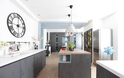 Avant/Après : Deux pièces rassemblées en une cuisine contemporaine