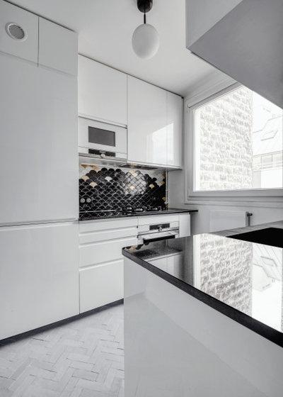 コンテンポラリー キッチン by Elodie Ricord Agence
