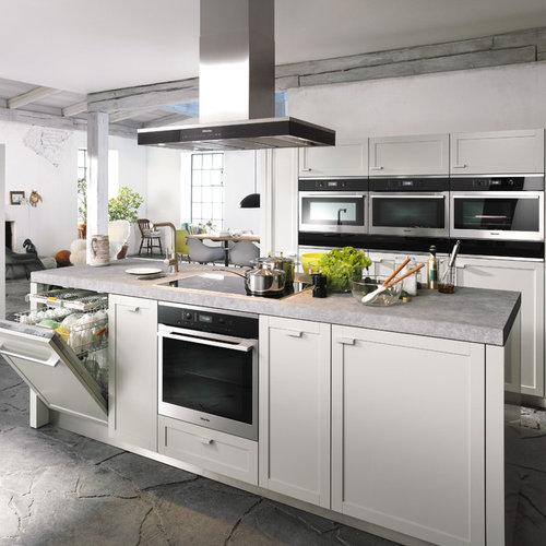 White Modern Kitchen Waplag Appliances Island Big Home: Premium Miele Gas Cooktop Home Design Ideas, Renovations
