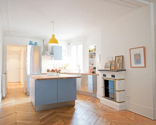 k chen in l form mit schrankfronten aus edelstahl ideen. Black Bedroom Furniture Sets. Home Design Ideas