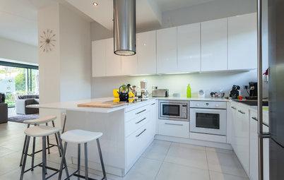 Cuisine cuisine blanc sur mur gris : 15 idées déco pour dynamiser une cuisine blanche