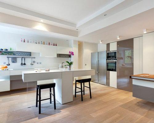 Cuisine avec un placard porte vitr e photos et id es - Carreau porte vitree ...