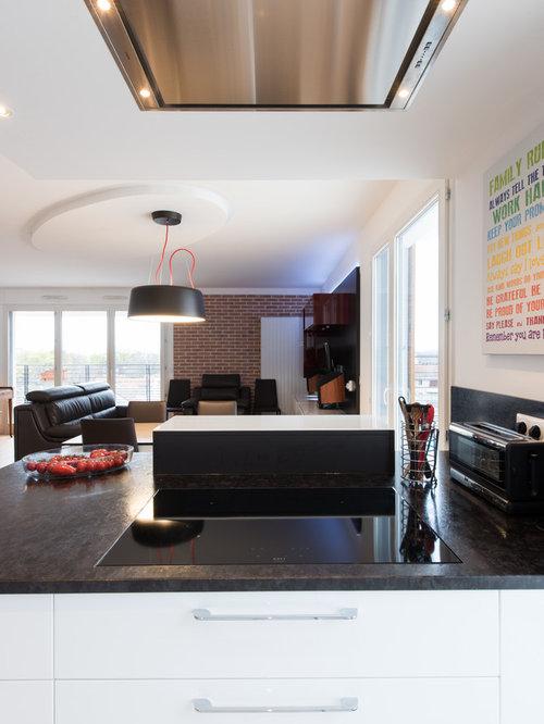 Grande cuisine avec lot ouverte sur salon finition bi tiente for Grande cuisine ouverte sur salon