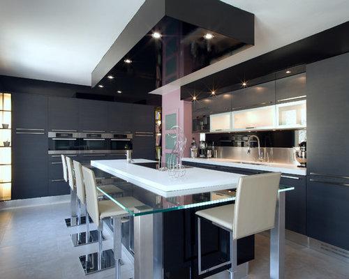 Grande cuisine design italien finition anthracite par for Grande cuisine complete