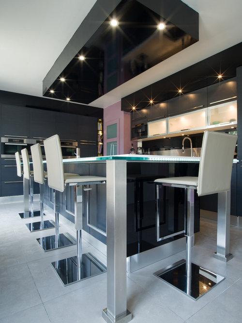 grande cuisine design italien finition anthracite. Black Bedroom Furniture Sets. Home Design Ideas
