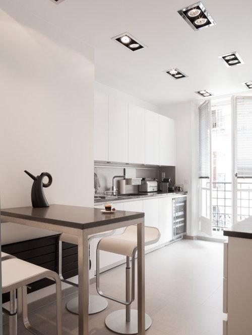 Cuisine faux plafond avec spots photos et idees deco de for Idee deco cuisine avec cuisine americaine