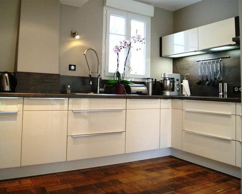 Cucina con pavimento in bambù Le Havre - Foto e Idee per Arredare