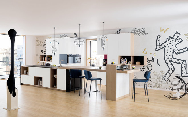Contemporary Kitchen by Perene Ternay Faure Agencement