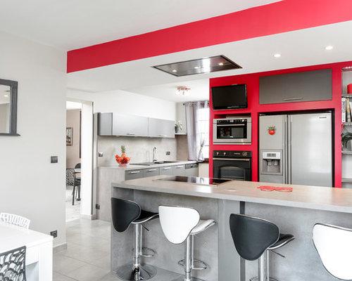 Cuisine faux plafond photos et id es d co de cuisines Faux plafond cuisine