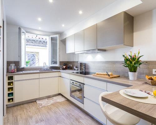 cuisine avec un vier encastr photos et id es d co de cuisines. Black Bedroom Furniture Sets. Home Design Ideas