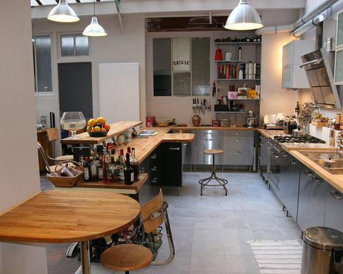 cuisine industrielle photos et id es d co de cuisines. Black Bedroom Furniture Sets. Home Design Ideas