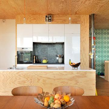 Maison contemporaine béton/bois