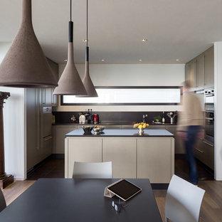 Ispirazione per una cucina minimal di medie dimensioni