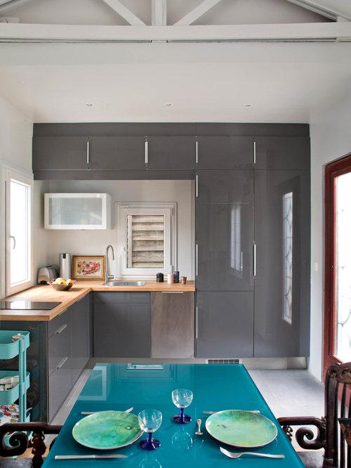 Cuisine 3d beatles poster photos et id es d co de cuisines - Deco keuken grise ...