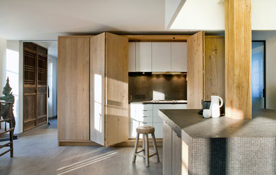 9 Cleverly Concealed Kitchens Open Up