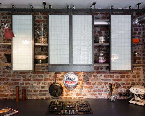 Cuisine industrielle photos et id es d co de cuisines for Amenagement cuisine lineaire