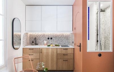 Avant/Après : Un mini-studio inspiré par le bleu Klein