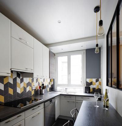 コンテンポラリー キッチン by Prisca Pellerin Architecture & Intérieur