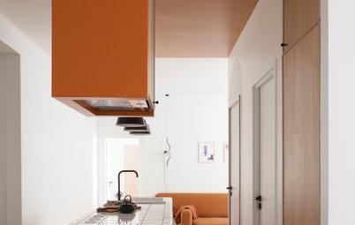 До и после: Оттенки терракоты в небольшой парижской квартире