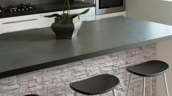 Plaquette de parement en béton / aspect pierre / intérieure / extérieure
