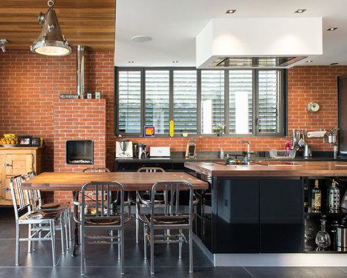 Cuisine industrielle photos et id es d co de cuisines - Plan cuisine en parallele ...
