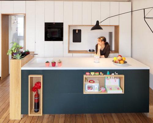 petite cuisine parall le photos et id es d co de cuisines. Black Bedroom Furniture Sets. Home Design Ideas