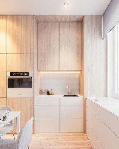 Современный Кухня by Plac'Art - L'Artisan-Menuisier
