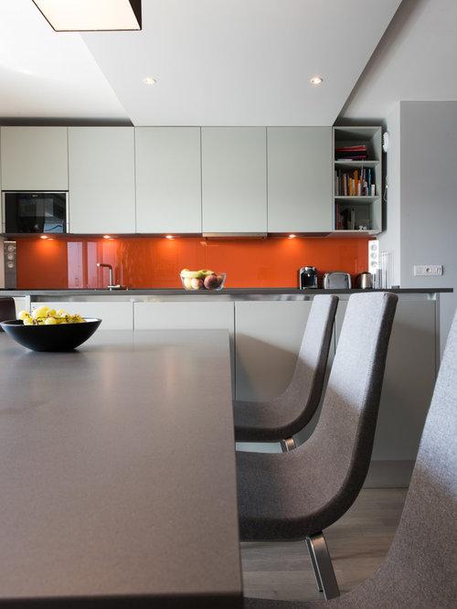 Projet cuisine salon lin aire avec grand lot central - Cuisine avec grand ilot central ...