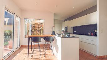 Projet O&RJ/ Conception et installation d'une cuisine dans maison d'architecte
