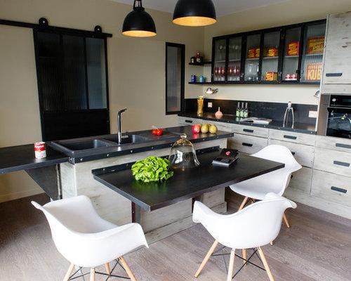 Cuisine industrielle photos et id es d co de cuisines for Cuisine industrielle loft