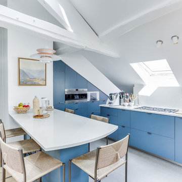 Réaménagement d'un appartement sous les toits de Paris