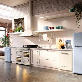 Inspiration pour une cuisine vintage.