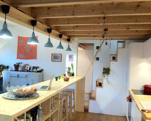 Cucina con pavimento in bambù bordeaux foto e idee per