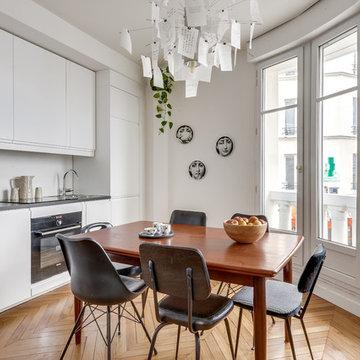 Rénovation complète - 45 m2 - Paris 15- appartement immeuble art déco