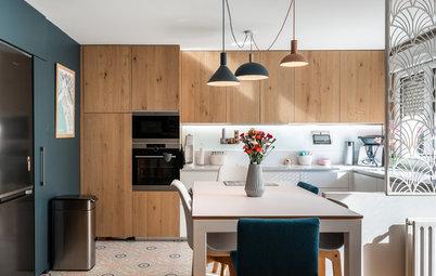 Avant/Après : À Lyon, une cuisine de 10 m² s'ouvre sur le salon