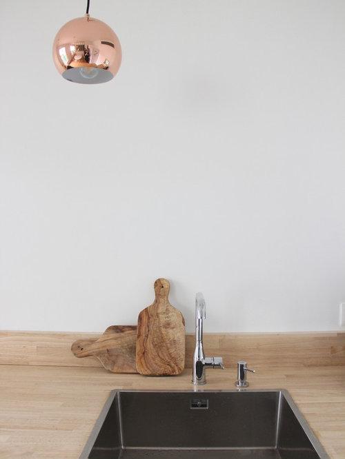 Scandinavian Kitchen Design Ideas Renovations Photos With Timber Splashback