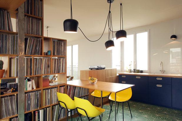pop in paris wohnbereich f r einen hobby dj hunderte schallplatten. Black Bedroom Furniture Sets. Home Design Ideas