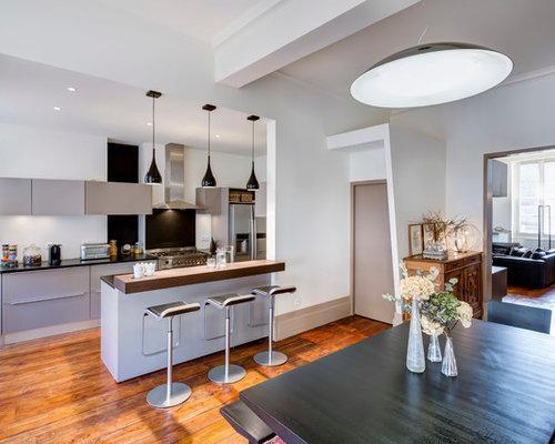 cuisine parall le photos et id es d co de cuisines. Black Bedroom Furniture Sets. Home Design Ideas