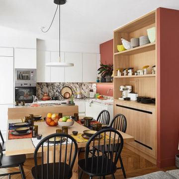 Rénovation d'un appartement familial de 115m2- Paris 8
