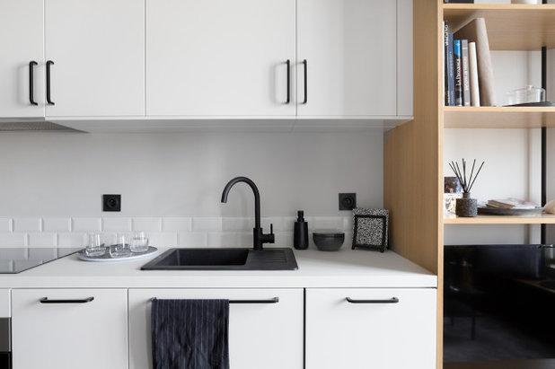北欧 キッチン by Lagom architectes