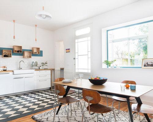 Cucina abitabile scandinava bordeaux foto e idee per