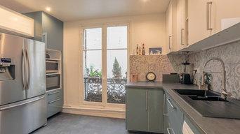 Rénovation dans un appartement parisien