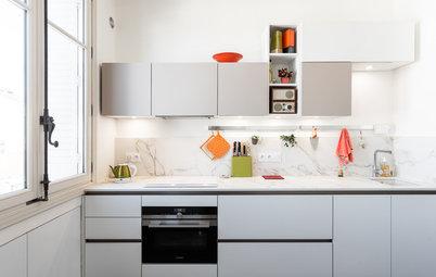 Avant/Après : Une cuisine de 12 m² en Dekton à Lyon