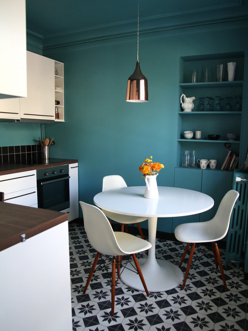 Turquoise kitchen design ideas renovations amp photos with flat panel