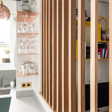Rénovation partielle appartement rue d'Enghien - Paris 10ème.