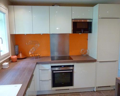 ideas remodels photos with orange backsplash and multiple islands