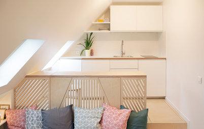 Houzz Tour: Vildt minihjem med køkken, bad og stue på 15 kvm.