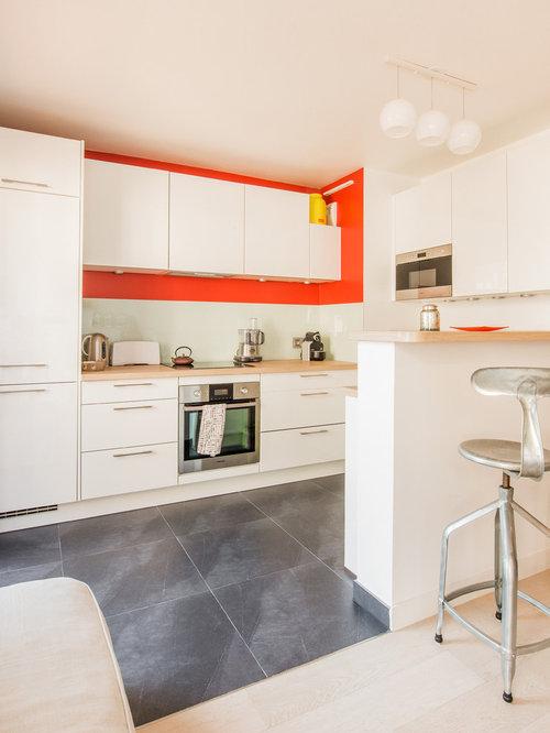 Salon et cuisine ouverte avec terrasse paris 17 me - Salon et cuisine ouverte ...